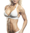 Female Fitness Model Chest And Abs