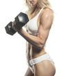 Female Fitness Model Bicep Curl