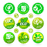 Set of Eco - Recycle - Green icons