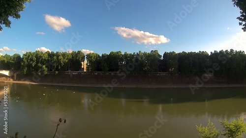 Panoramic view of Tevere River
