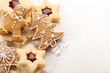 Close-up of Christmas cookies