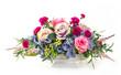 Bouquet of flowers in ceramic pot