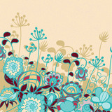 Vintage spring floral background with text field