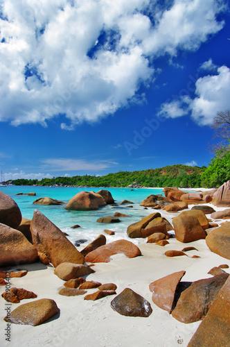 Fototapeten,insel,tropisch,strand,seychelles