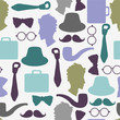 Seamless pattern with gentlemen's accessories