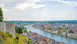 panoramic view of city Namur, Belgium