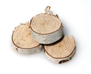 Holzscheiben, Birkenbaum