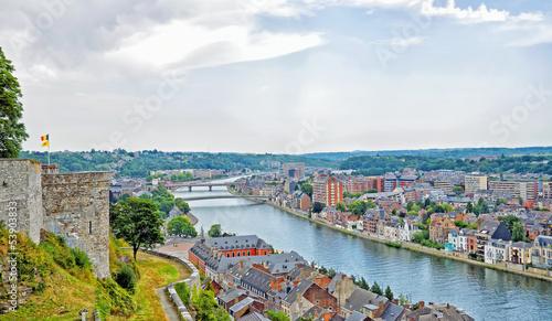 Papiers peints Europe du Nord panoramic view of city Namur, Belgium