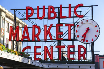 Seattle Public Market Center Sign
