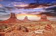 Zdjęcia na płótnie, fototapety, obrazy : The Monument Valley with beautiful sky.