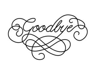 """GOODBYE"" Card (farewell good luck template retirement day)"