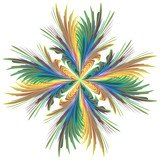 Modern abstract  vector flower in art deco style