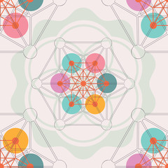 sacred geometry flower of life seamless pattern