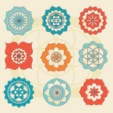 sacred geometry flower of life symbols - 53906816