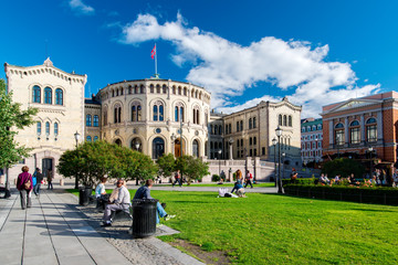 Storting of Norway on sunny day
