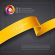 Ribbon cover design template