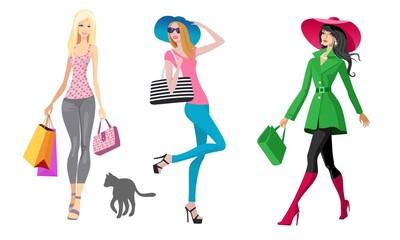 Happy shopping ladies hat