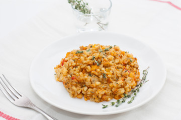 Risotto with tuna and vegetables