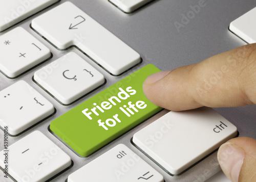 Friends for live keyboard key finger плакат