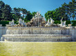 The neptune fountain at the Schonbrunn Palace in Vienna, Austria