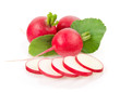 Fresh Radishes with Green Leaves