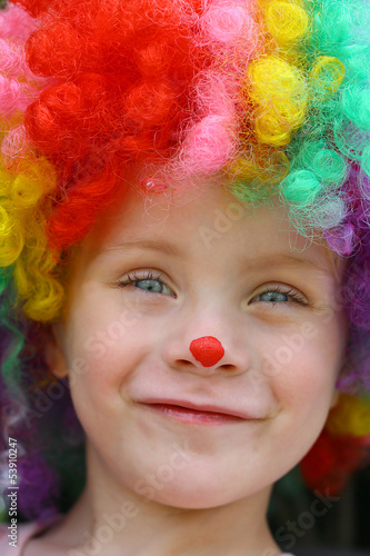 Smiling Clown Child