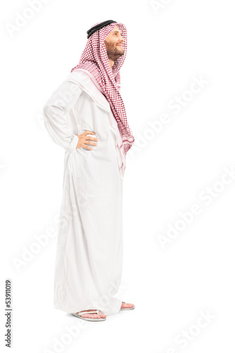 Full length portrait of a male arab person standing
