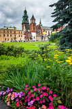 Wawel hill in spring