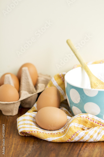 eggs on the table