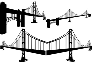 The Bridge Silhouettes Vector 07