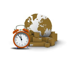 Express delivery with clock boxes and globe