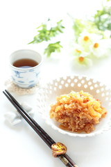 chinese food, tossed jelly fish for gourmet appetizer image