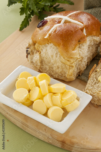 Butter And Hot Cross Buns