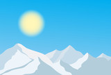 mountain background, vector illustration