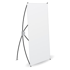 side banner x-stands display isolated