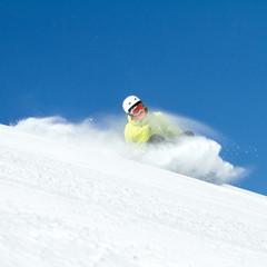 snowboarder in caduta