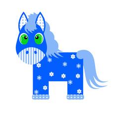 Blue horse 2014 year