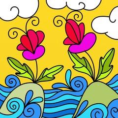 fiori in mare