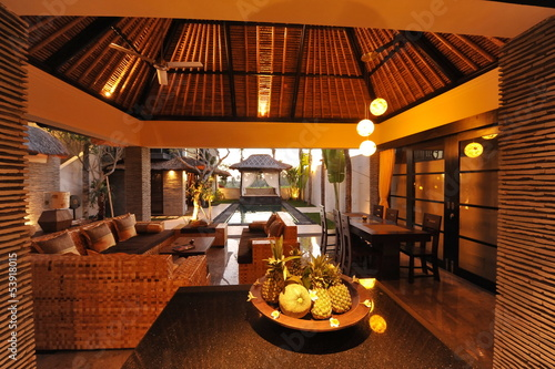 Interior of luxury tropical villa