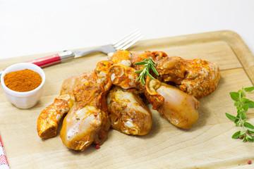 morceaux de poulet