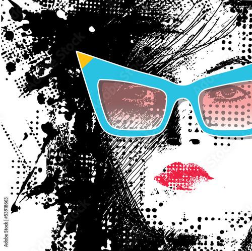 Keuken foto achterwand Vrouw gezicht Women in sunglasses
