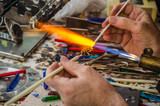 Glass blower work