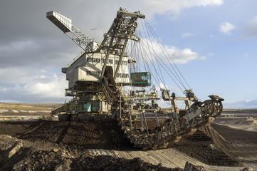 Schaufelradbagger im Braunkohlebergbau