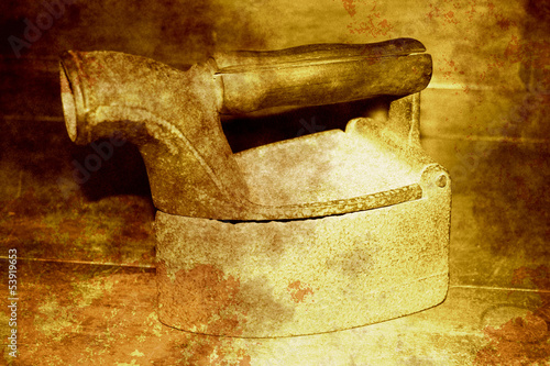 Antique charcoal iron (Retro serie)