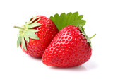 Strawberry with leaf