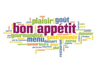 """Nuage de Tags """"BON APPETIT"""" ( restaurant gastronomie menu))"""