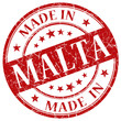 made in malta vintage stamp