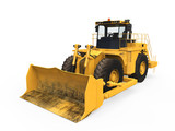 Yellow Bulldozer Isolated
