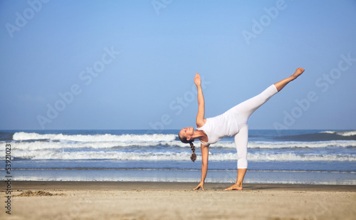 Yoga near the ocean in India