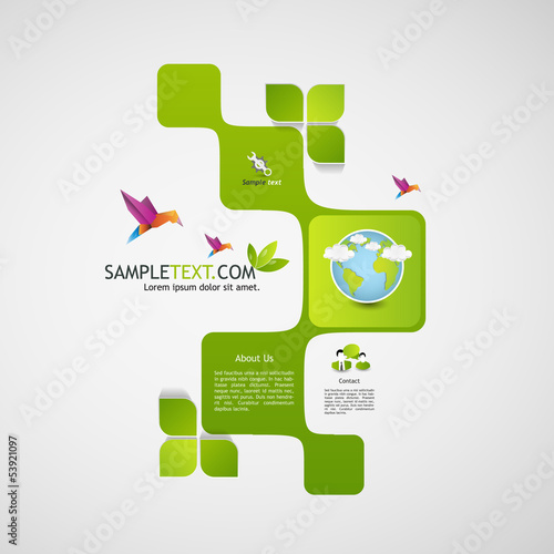 Eco Abstract Website template